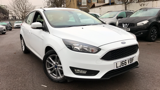 FORD FOCUS ZETEC HATCHBACK, PETROL, in WHITE, 2016 - image 0